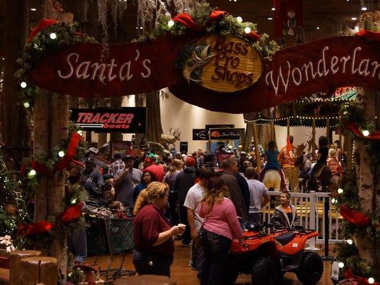The free Santa's Wonderland at Bass Pro Shops opens Saturday. Santa will make his grand entrance at 5 p.m.