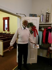 Allie Harper Jr. poses for a photo at John Wesley A.M.E Zion Church in Chambersburg. Harper worked as the church's pastor for 10 years until his passing on Tuesday, April 24.