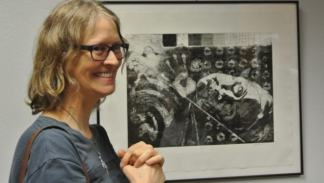 The art of Carolyn Lavendar is on display in the library at ASU's Polytechnic campus in Mesa.