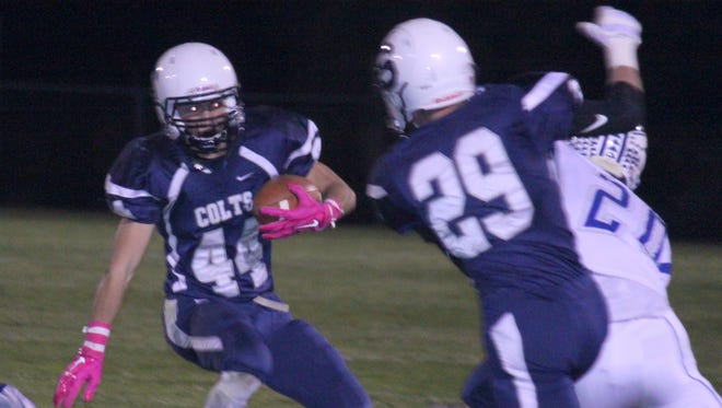 Silver's Shawn Gutierrez saw some action for the Colts on Friday night.