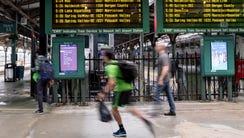 Hoboken Terminal train station on Tuesday September
