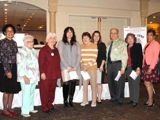 In honor of National Healthcare Volunteer Week (April 23 to April 29), JFK Medical Center celebrated on Wednesday, April 26, at the annual Volunteer Appreciation Dinner held at the Pines Manor in Edison.