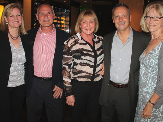 From left: Ann and Karl Hall, I. Heidi Loeb, and Mike and Laurie Haley attend the Accent on Asia dinner hosted by RGJ Media food and drink editor Johnathan L. Wright at the Atlantis Steakhouse.