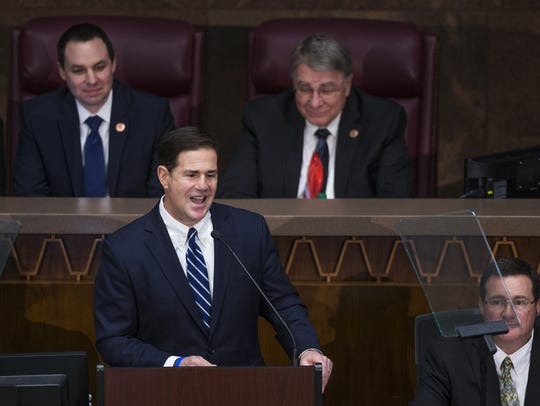 Gov. Doug Ducey delivers his State of the State address