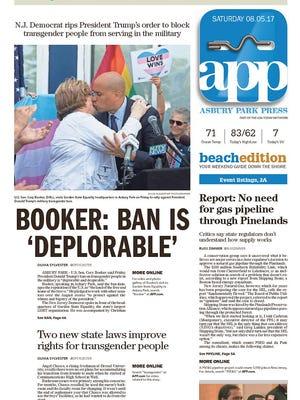 Asbury Park Press, Saturday, Aug. 5, 2017