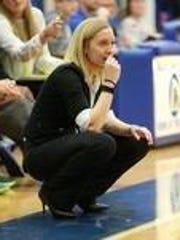 Salem girls basketball coach Lindsay Klemmer presided