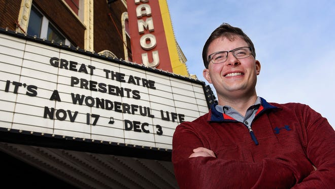 """Jason Stafford plays the character of Horace in the GREAT Theatre's production of  """"It's A Wonderful Life"""" shown Wednesday, November 29, at the Paramount Theatre."""