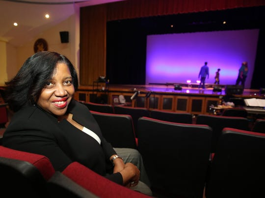 Performing arts chair Evelyn Collins before rehearsal