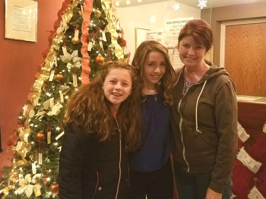 Ella Kleefisch (center) has been named a Rising Star for Musical MainStage, a professional concert series at Sunset Playhouse in Elm Grove. Pictured with Ella are her sister Violet, 11, and mom, Wisconsin Lt. Gov. Rebecca Kleefisch, at the Elm Grove Sunset Theater.