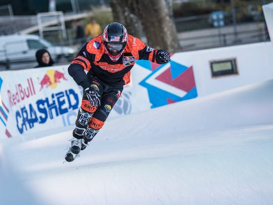 Former St. Cloud State student Cameron Naasz has become one of the top competitors on the Red Bull Crashed Ice Tour.