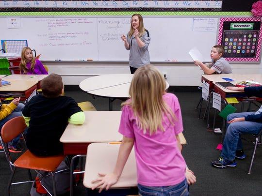 Oakland City Elementary School teacher Lauren Schmidt