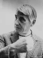 Dutch-born painter Willem de Kooning shown in Amsterdam