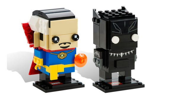 Doctor Strange and Black Panther LEGO BrickHeadz.