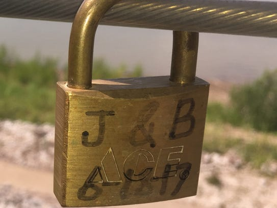 """""""Locks of love"""" usually have the initials of those"""