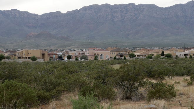 This lot at the intersection of Marcus Uribe Drive and Robert Lennox Drive in the Sandstone Ranch neighborhood was planned for a high school in the El Paso Independent School District's 2007 bond.