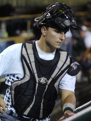 U-D Jesuit's Harrison Wenson of Farmington Hills was the starting catcher for the East in the 2013 high school all-star team at Comerica Park.