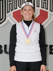 Shelby junior Alexis Jones poses with her title medal