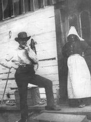 The only known photo of Annie Morgan, pictured at her