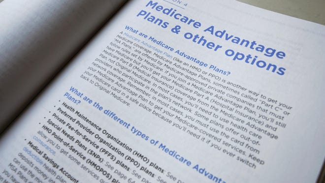 A page from a U.S. Medicare Handbook in Washington. The federal government is giving insurers who offer Medicare Advantage plans more leeway to pay for things they have not covered in the past.