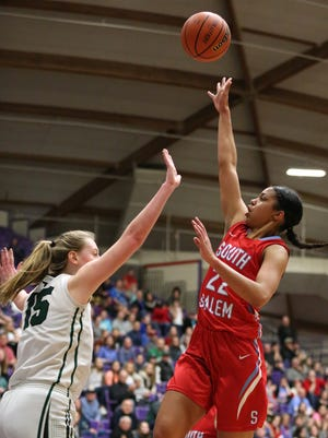 South Salem's Evina Westbrook is a finalist for the Johnny Carpenter Prep Athlete of the Year.