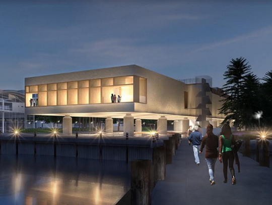 Rendering of International African American Museum