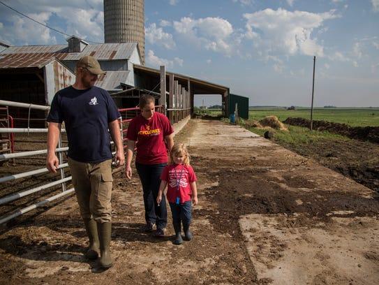 John C. and Sarah Gilbert with their daughter Isabel