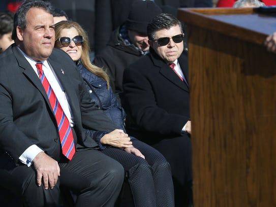 Gov. Chris Christie and Mary Pat Christie are shown
