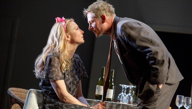 "Cate Blanchett and Richard Roxburgh in ""The Present."""