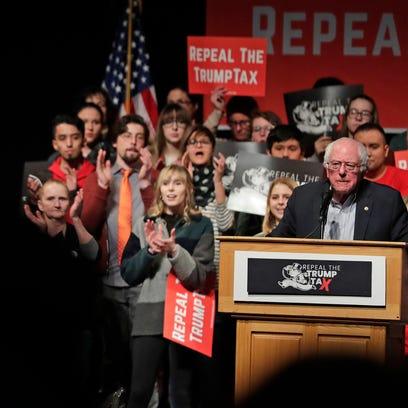Sen. Bernie Sanders uses tax reform to energize Green Bay progressives