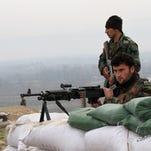 Afghan troops in Kunduz.
