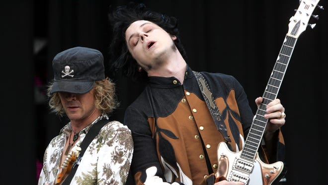 Brendan Benson and Jack White of The Raconteurs performs at Bonnaroo, Friday June 13th, 2008 in Manchester, TN.   Samuel M. Simpkins/THE TENNESSEAN