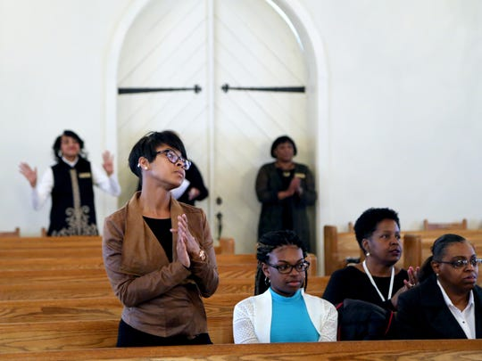 Members of Jubilee Baptist worship during a recent Sunday service.