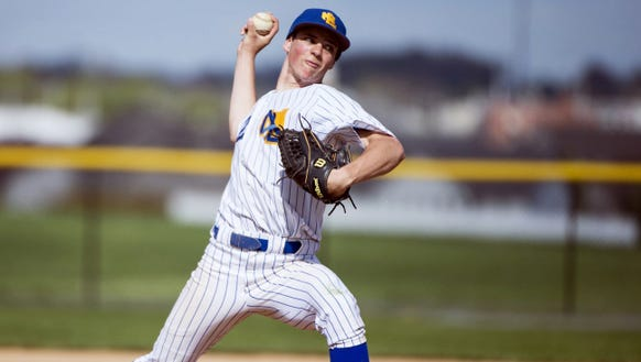Northern Lebanon's Isaac Wengert delivers a pitch during