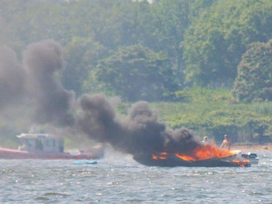 Authorities responded to a boat fire Sunday afternoon