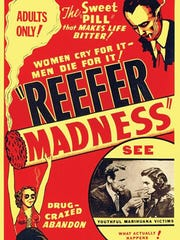 """This reproduction of a poster for the 1936 film """"Reefer"""