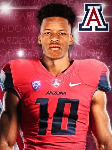 Arizona Wildcats 2017 safety signee Xavier Bell.