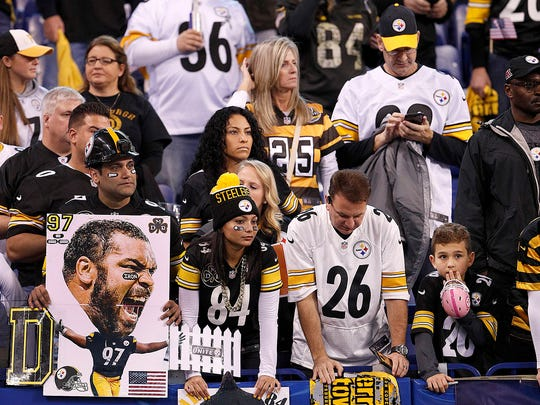 Pittsburgh Steelers fans fill the stands before the