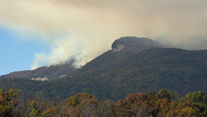 The wildfire remained about 35-percent contained Sunday after having burned 5,177 acres of Jocassee Gorges wilderness, Table Rock State Park and Greenville Water System watershed land.