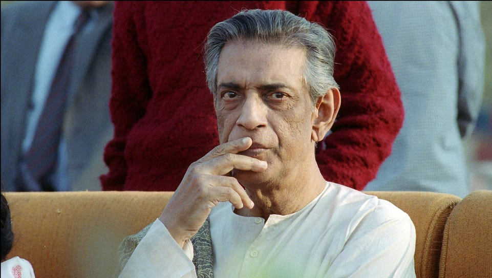 Indian movie director Satyajit Ray during a 1989 ceremony