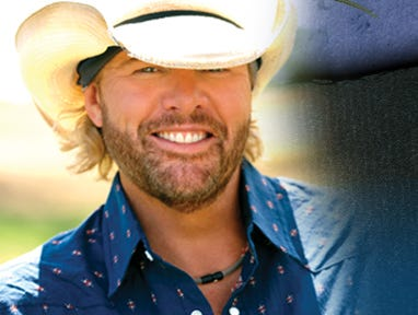 Enter for a chance to win 2 suite tickets at the Resch Center to see Toby Keith. Enter 7/26-8/21