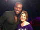 Alyssa Milano and Simeon Rice at the Taste of the NFL's