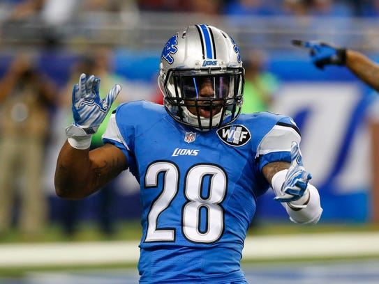 Lions cornerback Quandre Diggs reacts after a play