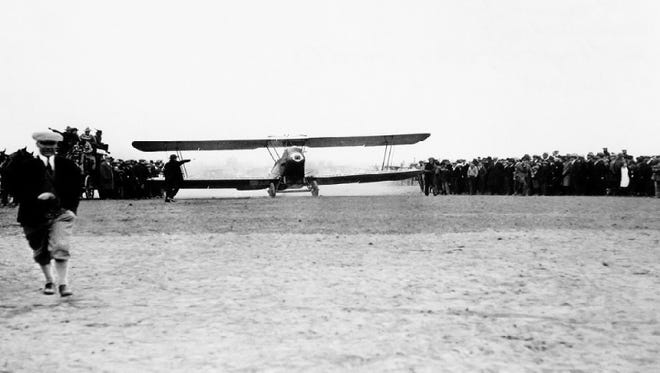 Varney Air Lines launched its first flight on April 6, 1926 -- seen here in this photo on an airmail run in the Pacific Northwest. Varney Air would eventually take the name United Airlines.