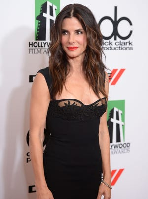 Actress Sandra Bullock arrives for the the 17th Annual Hollywood Film Awards Gala on Oct. 21, 2013 in Beverly Hills, Calif.