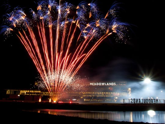 Fireworks will be among the fun at Meadowlands Racing.