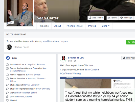 Sean Carter Mesa lawyer: Delivering packages while black too big of a risk