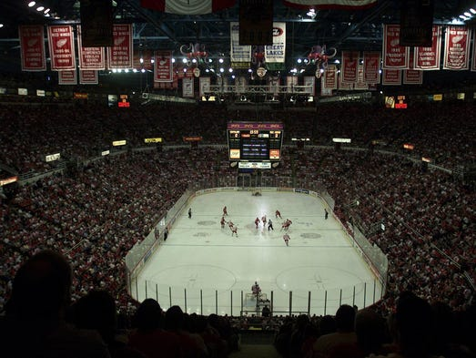 The Detroit Red Wings play their final home opener