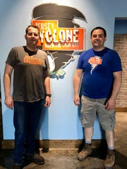 (Left to right) Jan Chwiedosiuk and Brian Teel, owners of Jersey Cyclone Brewing.