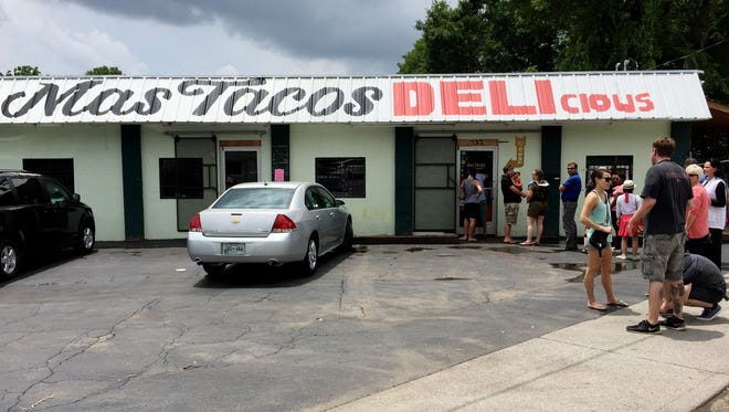 The popular Mas Tacos Por Favor restaurant in East Nashville has expanded and still offers a great cheap lunch.
