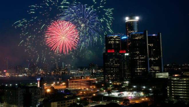The 2016 Ford Fireworks Detroit, the 58th annual, happened on the Detroit River in downtown Detroit on June 27, 2016.